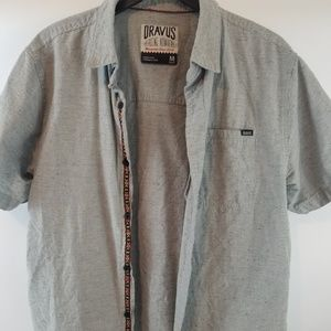 Dravus Misguided short sleeve button up top sz Med
